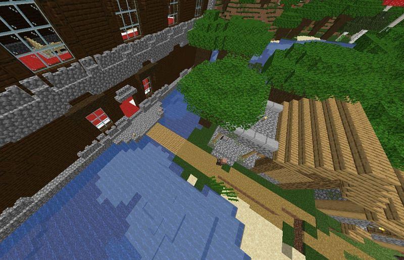 Village near mansion (Image via u/Moloom on Reddit)