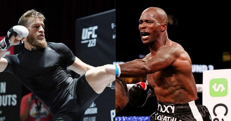 Conor McGregor (left) and Chad Ochocinco (right)