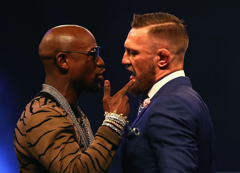 Floyd Mayweather (left) and Conor McGregor (right)