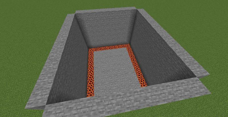 Build walls (Image via Minecraft)