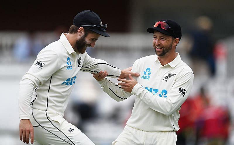 इंग्लैंड के खिलाफ पहले टेस्ट मैच के दौरान न्यूजीलैंड टीम
