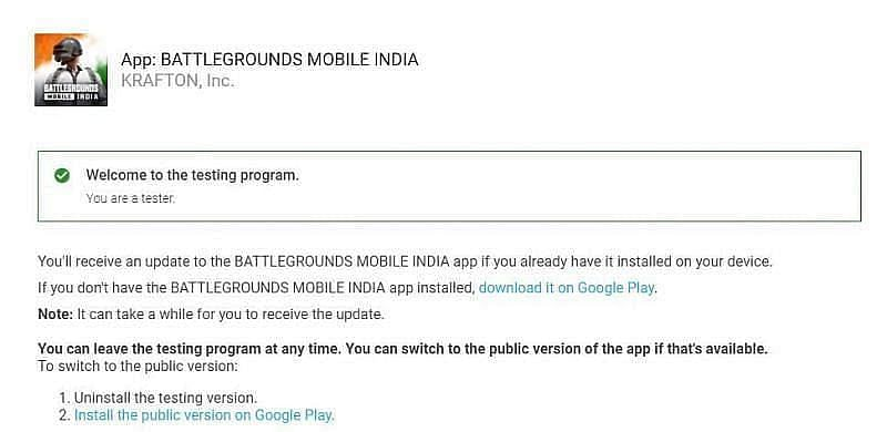 Players can signup for beta testing the game