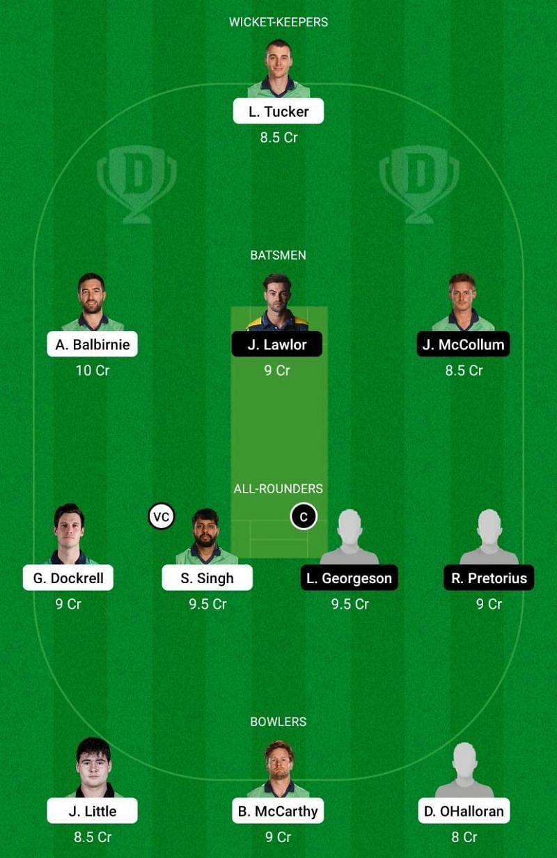 LLG vs NK Dream11 Team