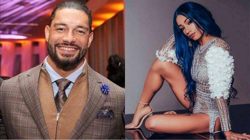 Roman Reigns and Sasha Banks