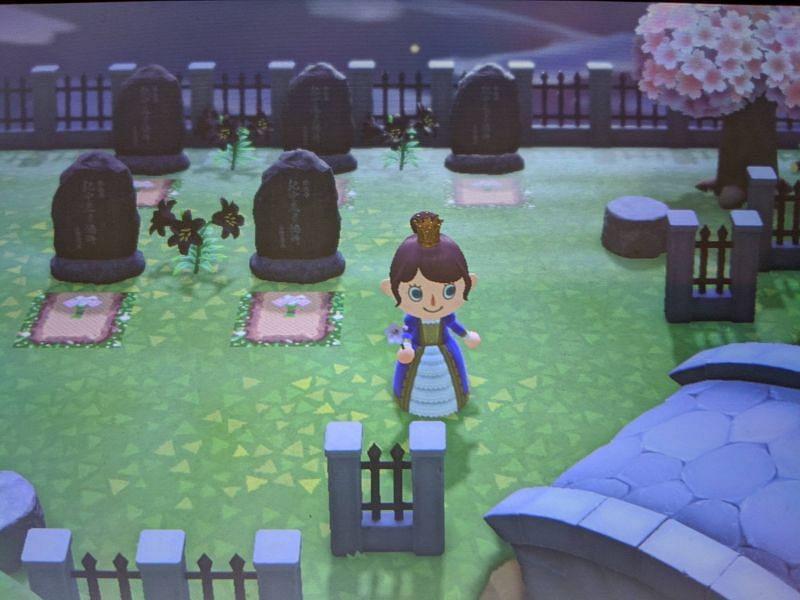 Graveyard in Animal Crossing: New Horizons (Image via Reddit)