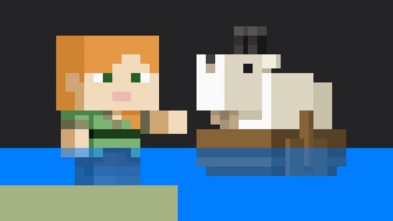 A cool artwork of Alex and a goat (Image via trueachievements)