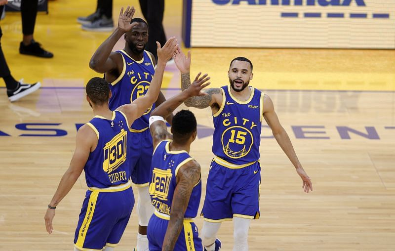 The Golden State Warriors in action