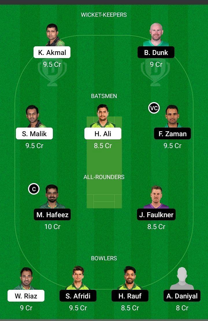 PES vs LAH Dream11 Team Prediction - PSL -2021