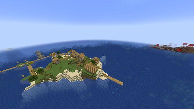 Mushroom Villagers (Image via Minecraft)