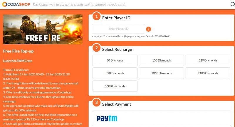 Select Top up and payment