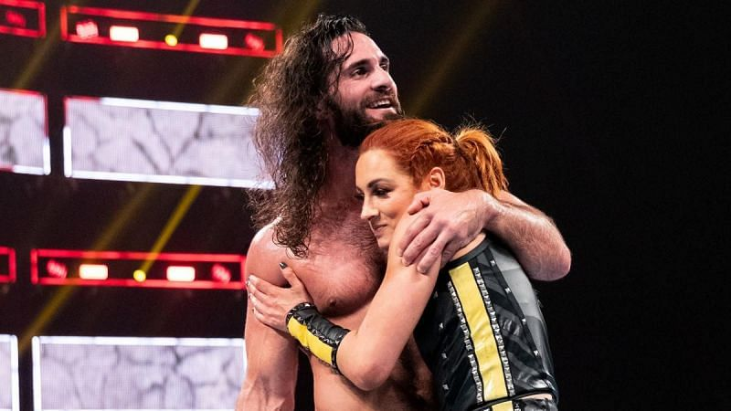 Seth Rollins and Becky Lynch in WWE