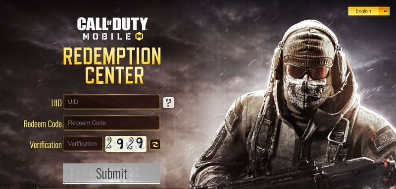 Official Redemption page of COD Mobile (Image via: www.callofduty.com/redemption)