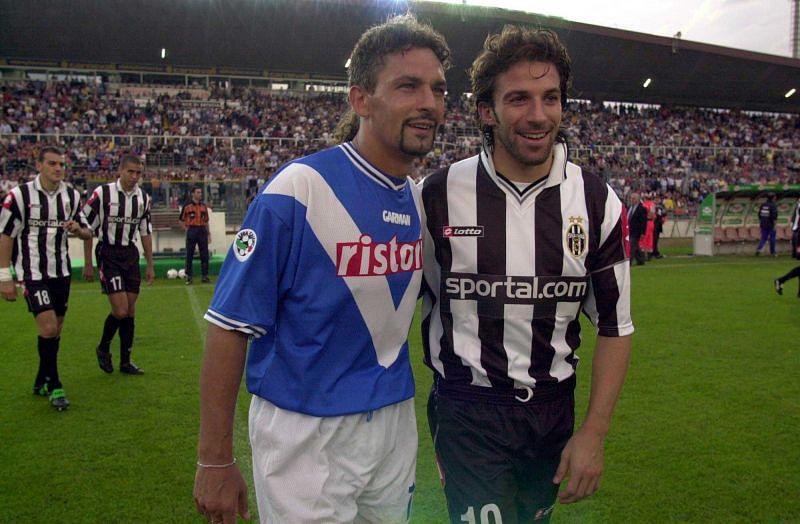 Roberto Baggio and Alessandro Del Piero