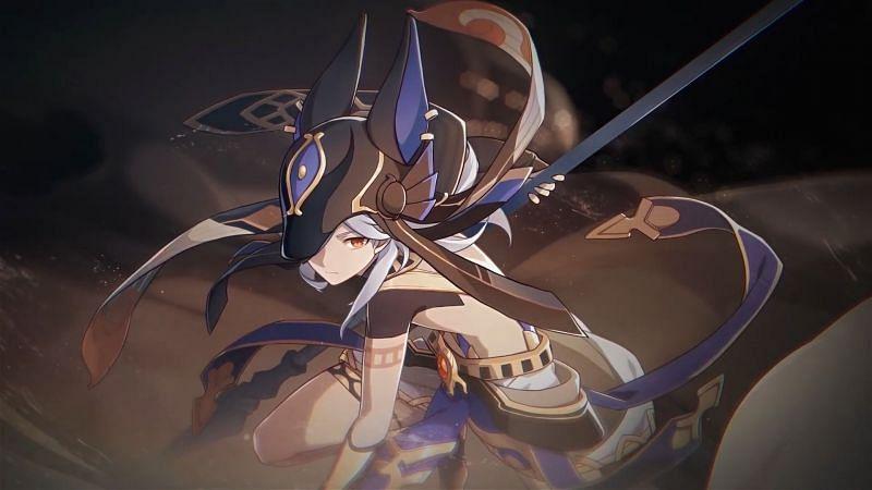 Cyno, as he appears in Genshin Impact (Image via miHoYo)