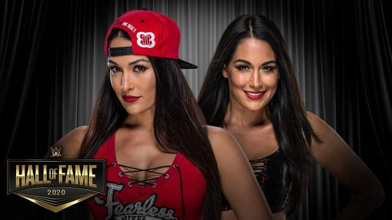 The Bella Twins were part of the 2020 WWE Hall of Fame class