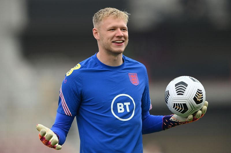 Aaron Ramsdale is at Euro 2020. (Photo by Stu Forster/Getty Images)