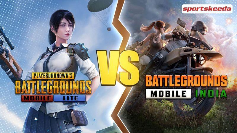 A comparison of of PUBG Mobile Lite and BGMI