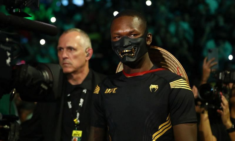 Israel Adesanya carried on with his tradition of pro-wrestling-esque entrances at UFC 263