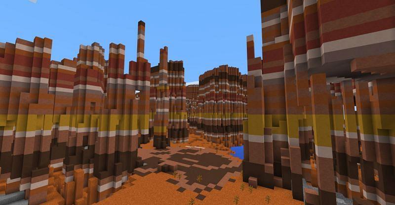 Mesa Biome. Image via Minecraft: Education Edition