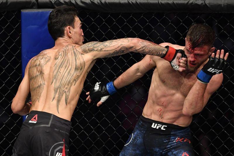 Max Holloway thrashes Calvin Kattar