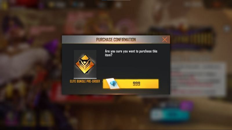Players need to confirm their purchase by pressing the yellow button.