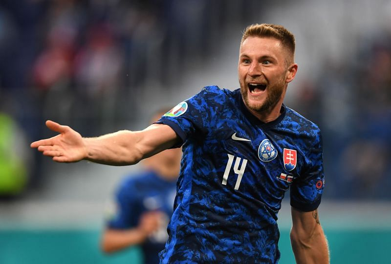 Milan Skriniar proved to be the match-winner for Slovakia against Poland in Euro 2020