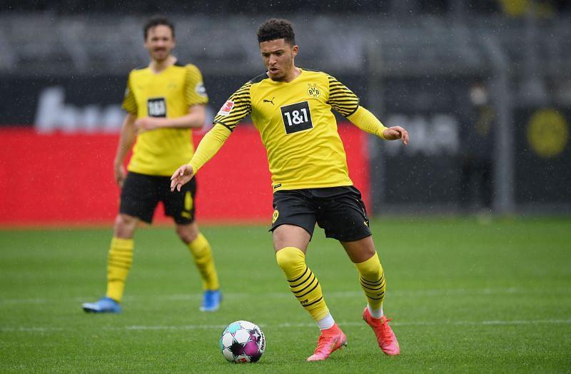 Jadon Sancho in action for Borussia Dortmund