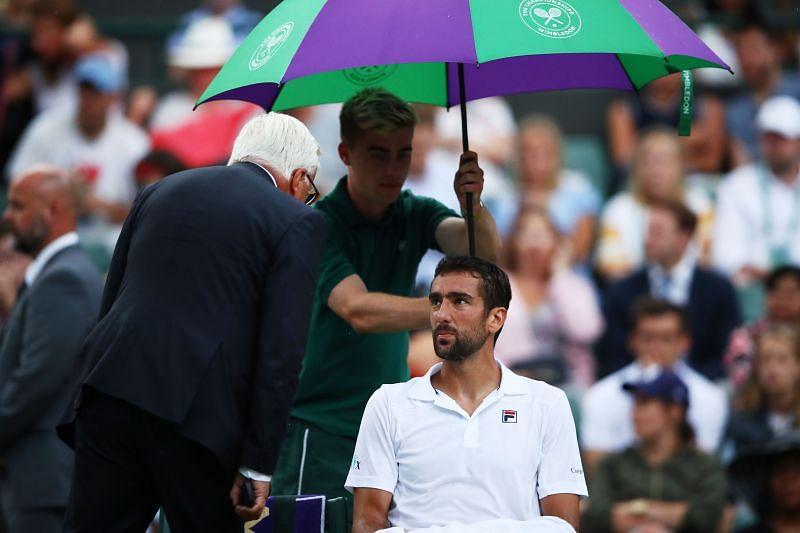 Marin Cilic at the 2018 Wimbledon