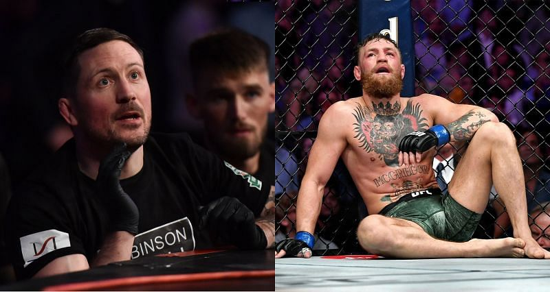 Coach John Kavanagh (Left) and Conor McGregor (Right) had a bumpy start to their professional relationship