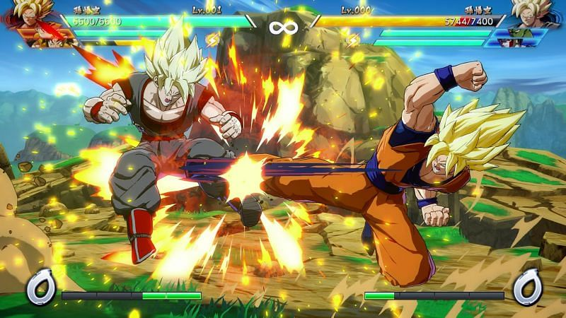 Dragon Ball FighterZ: Defending against the homing dash (Image via Namco Bandai)