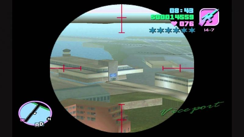 The infamous Ghost Tower in GTA Vice City (Image via Piecemeal, YouTube)