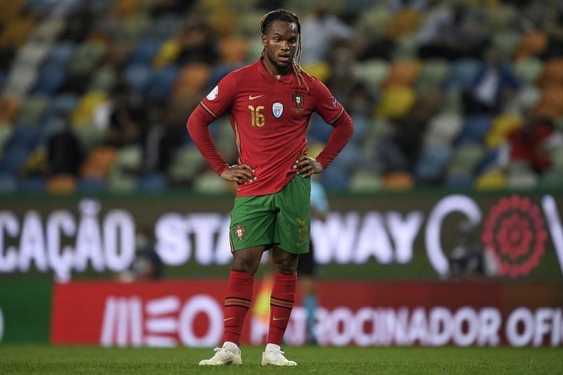 Renato Sanches looks on during an international friendly with Portugal
