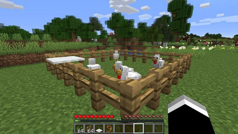 There are many ways to build an egg farm in Minecraft (Image via Minecraft)