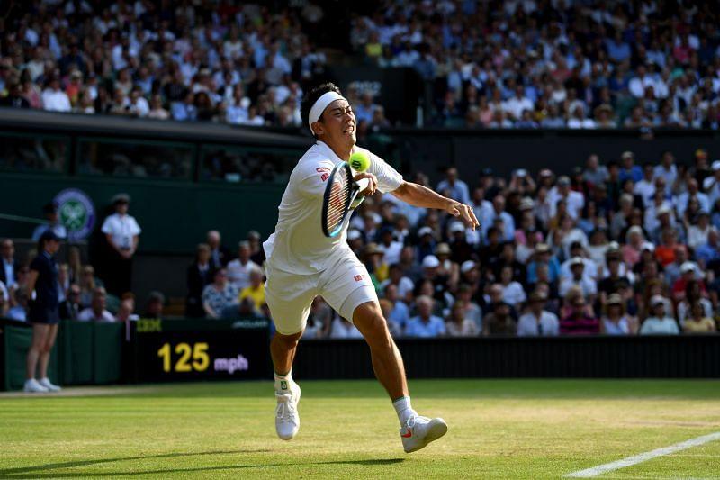 Kei Nishikori at 2019 Wimbledon
