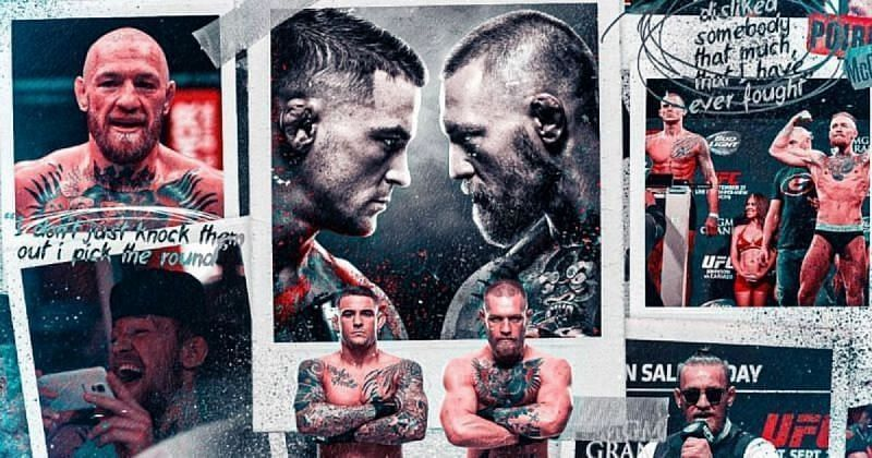 Conor McGregor vs Dustin Poirier poster via Twitter