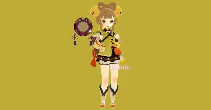 Leaked render of the Genshin Impact character, Yaoyao (image via Lumie)