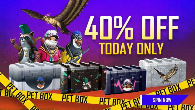 Pet boxes at a lowered cost (Image via Free Fire)
