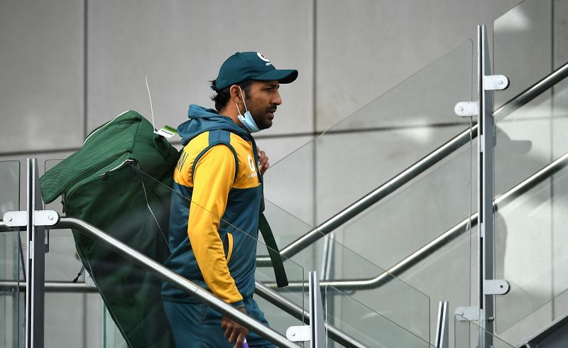 Sarfaraz Ahmed in action during a Pakistan Nets Session