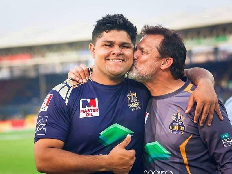 Azam Khan with father Moin Khan
