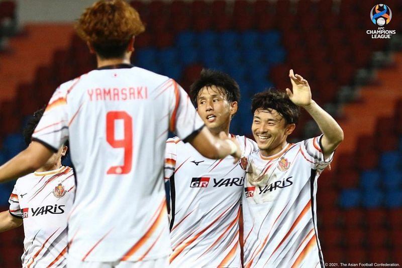 Nagoya Grampus will take on Ratchaburi. Photo Credit: @nagoyagrampus Instagram
