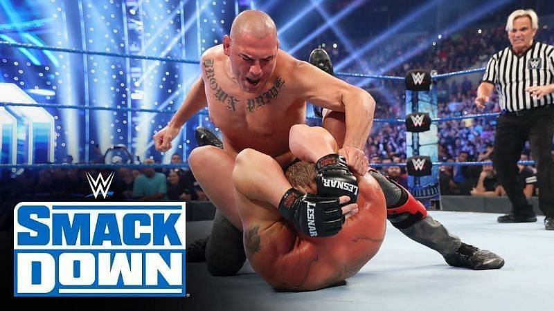 Cain Velasquez attacked then-WWE Champion Brock Lesnar on SmackDown before their match