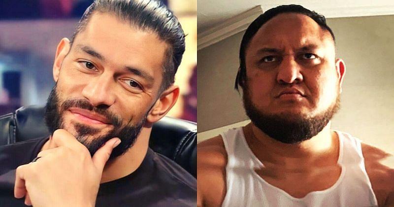 Roman Reigns and Samoa Joe.