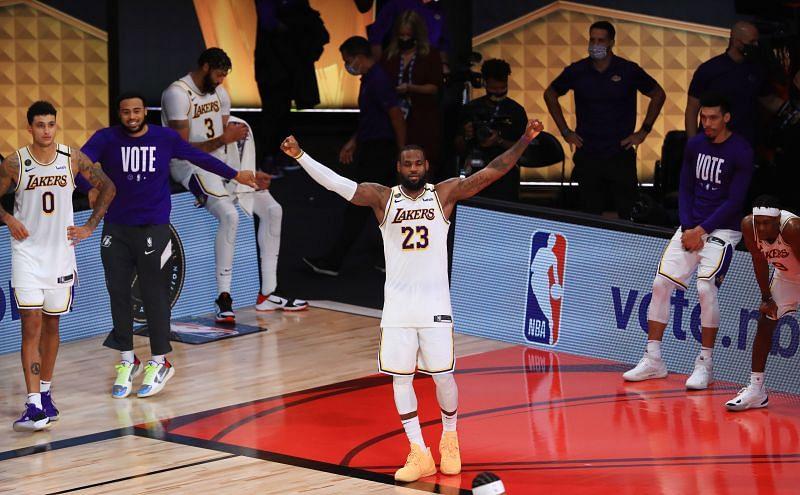James after winning the 2020 NBA Finals.