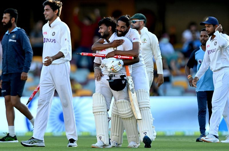 ब्रिस्बेन टेस्ट मैच में जीत हासिल करने के बाद भारतीय टीम