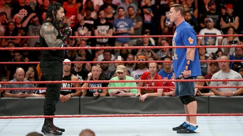 WWE के दो दिग्गज सुपरस्टार रोमन रेंस और जॉन सीना