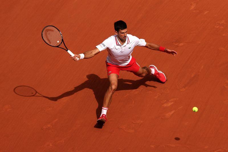 Novak Djokovic will play in his 12th consecutive quarterfinal at Roland Garros