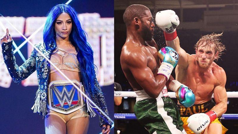 Sasha Banks wants to fight Floyd Mayweather next [Source: Instagram]