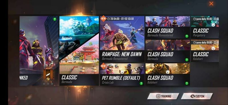 Gameplay modes in Free Fire