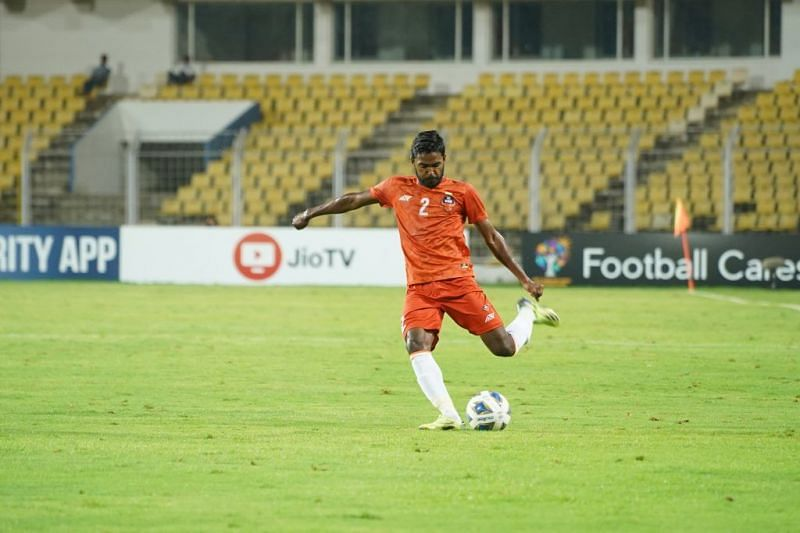 Sanson Pereira bossed the left-wing as a left full-back for FC Goa in the ACL. (Image: AFC)