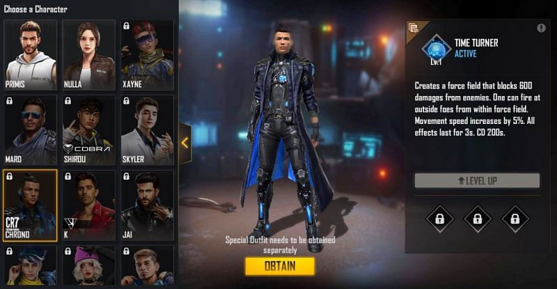 Chrono in Free Fire